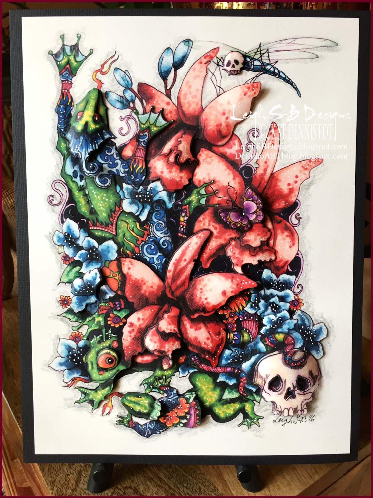leighsbdesigns day of the dead 3d art rick st dennis edt