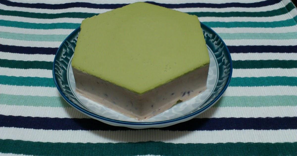 美食記趣: 食譜 - 綠茶紅豆芝士蛋糕