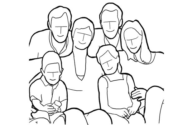 دليل أوضاع تصوير الأسرة بالصور 2