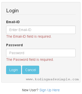 codeigniter-login-form-validation-error