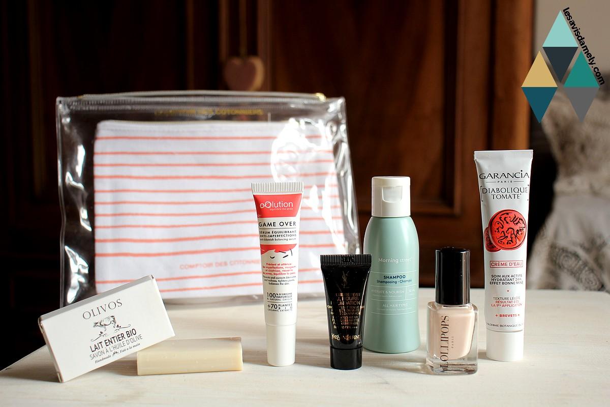 avis et test box beauté Birchbox parrainage code promo mars comptoir des cotonniers