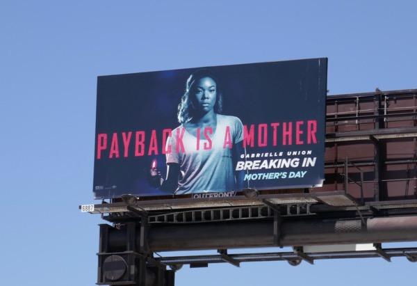 Breaking In movie billboard