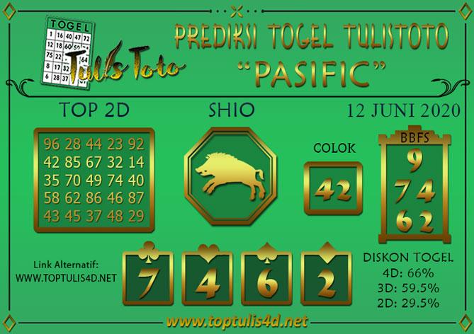 Prediksi Togel PASIFIC TULISTOTO 12 JUNI 2020