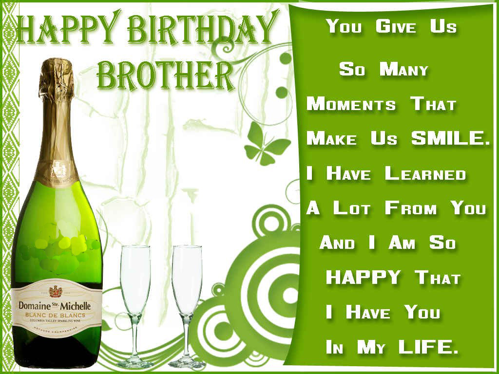 Happy birthday brother wishes HD images, pictures, photos ...