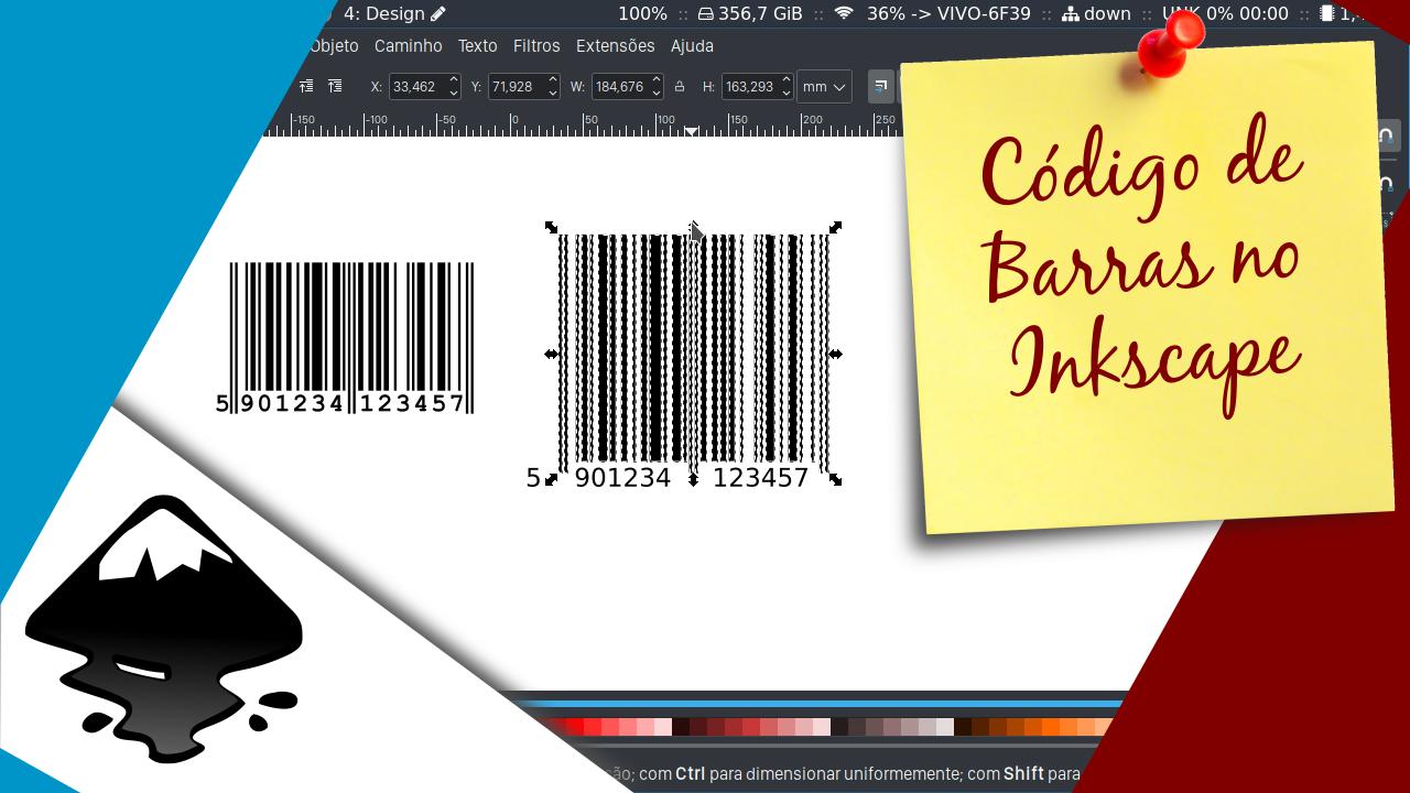 Código de Barras com o Inkscape