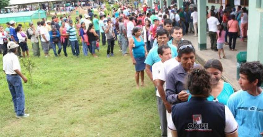 ONPE: 50 mil peruanos votarían en Elecciones Complementarias - www.onpe.gob.pe