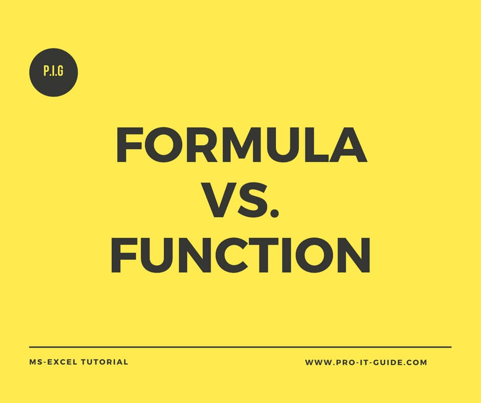 MS Excel Formula And Function