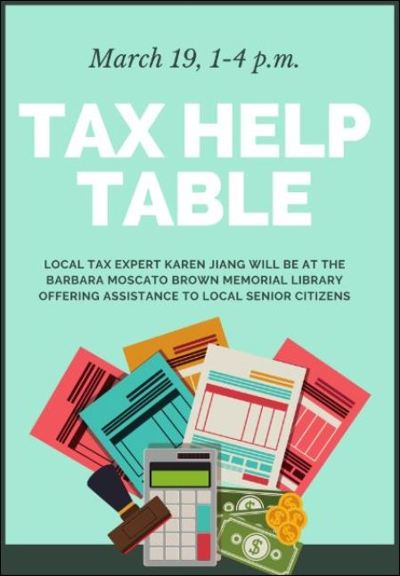 3-19 Tax Help at the Barbara Moscato Brown Library