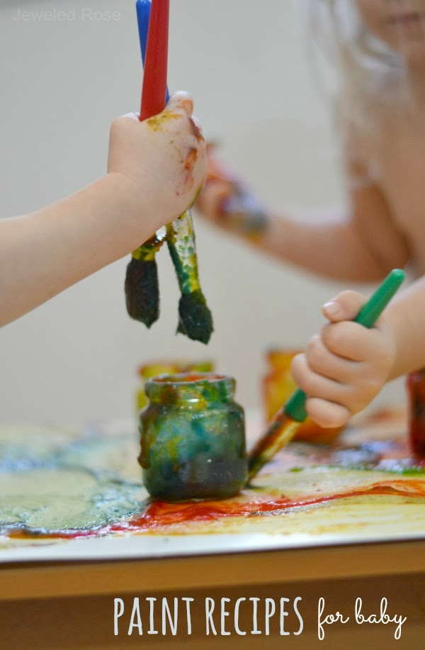 Easy homemade paint recipes that are safe or babies and toddlers