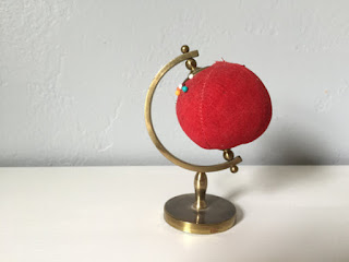 globe pin cushion etsy