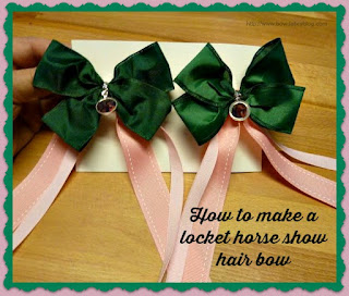 Locket horse show hair bow