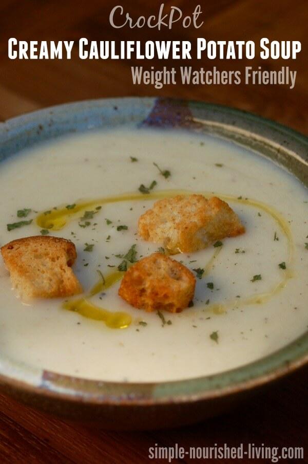 Crock Pot Creamy Cauliflower Potato Soup