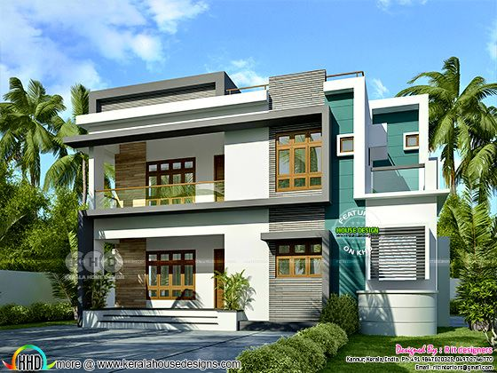 2223 square feet modern 3 bedroom house design
