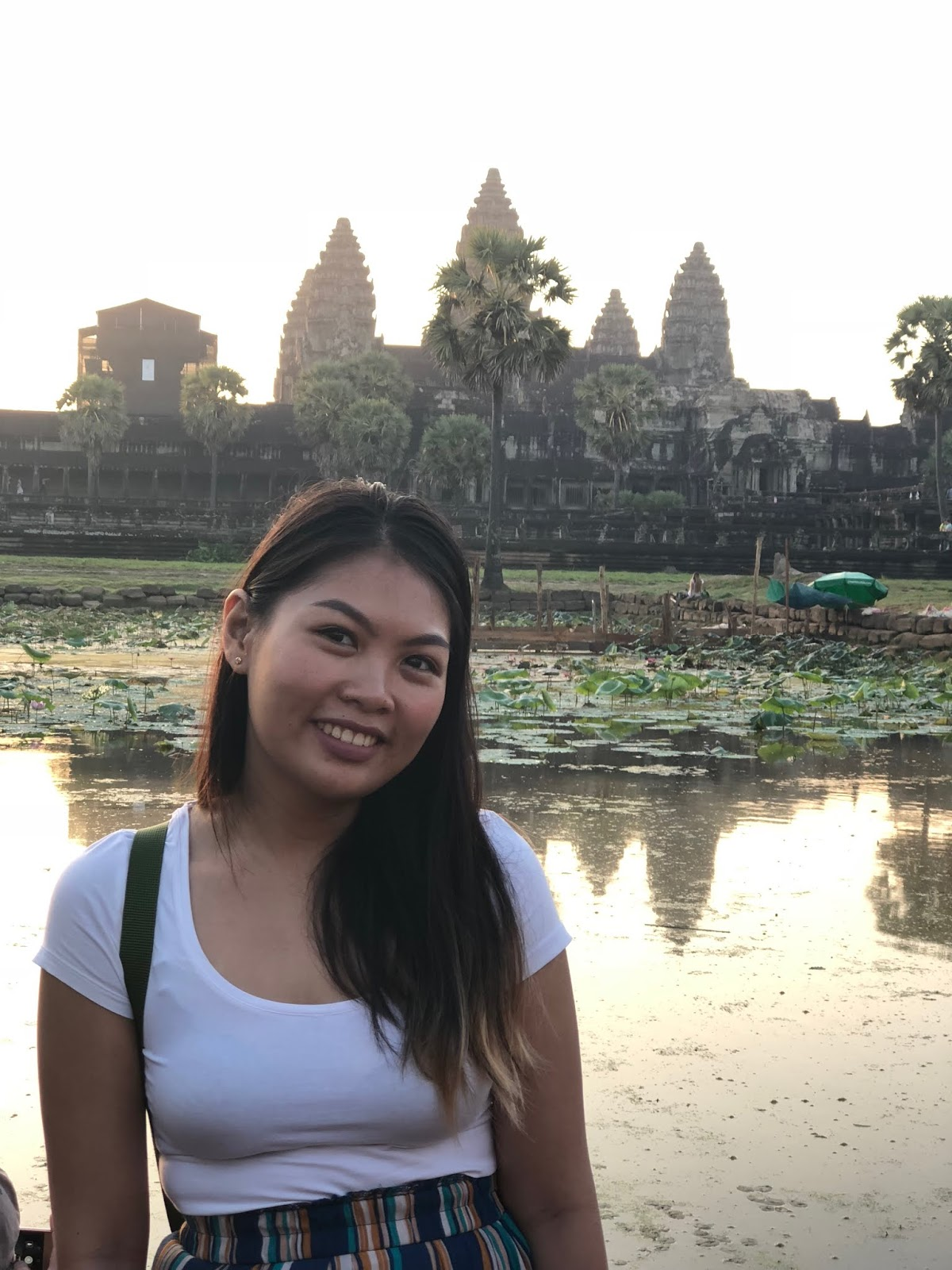 Turista shot in front of Angkor wat