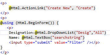 Searching in ASP.NET MVC Application