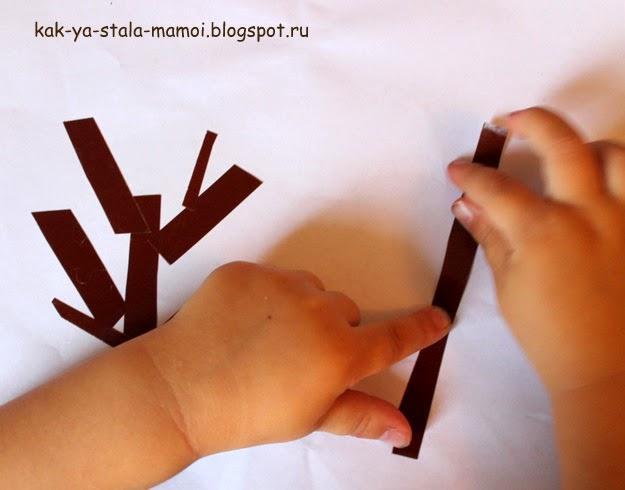 осеннее дерево, французский язык для детей, поделки для детей, легкие поделки для детей