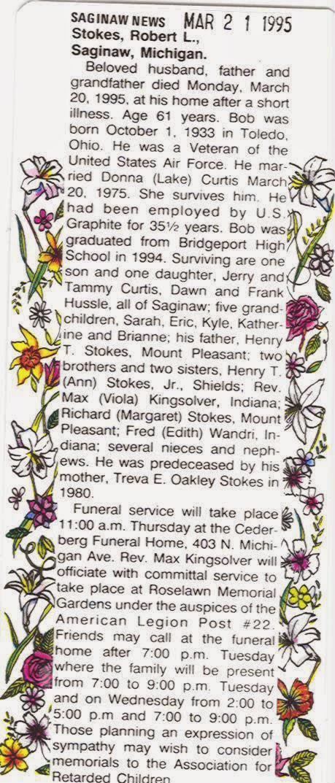 Obituary for Robert Stokes