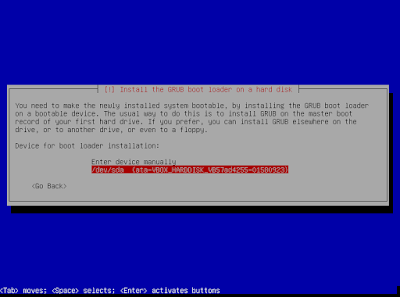 Install grub loader pada harddisk kita (/dev/sda/)