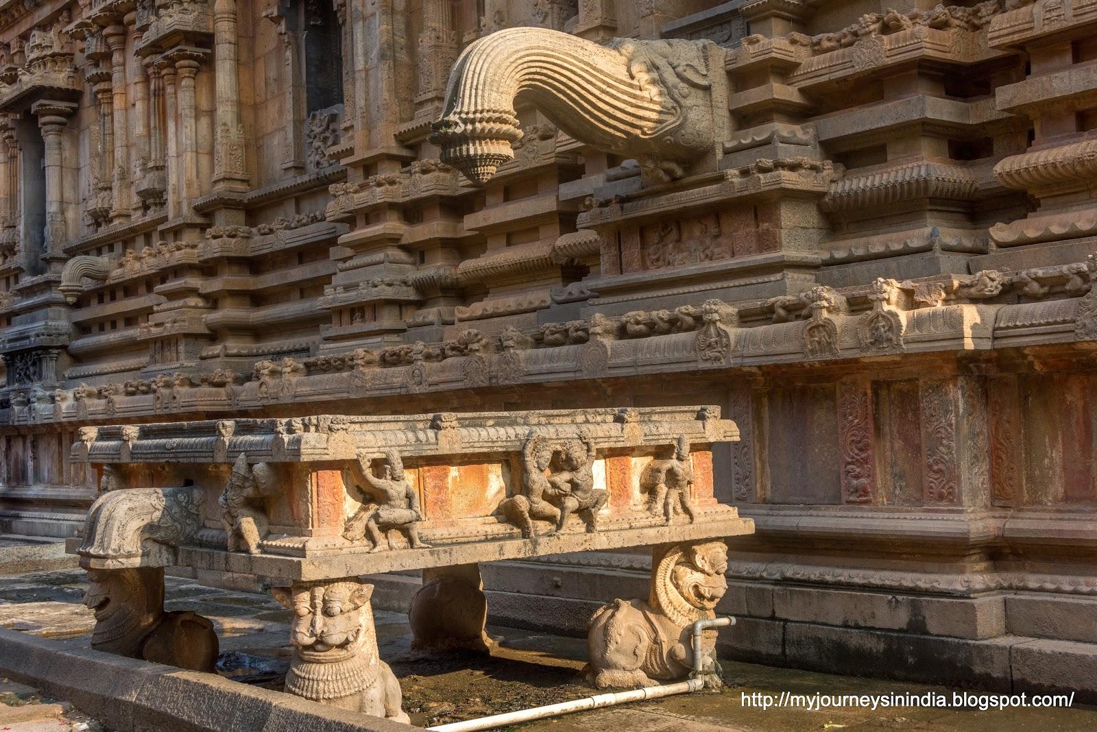 Thanjavur Brihadeeswarar Temple Spout View
