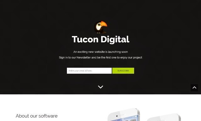 Tucon v3 – Landing Page for website underconstruction