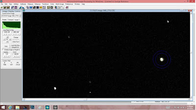 Image of Neptune for comparison with brightness of nearby objects
