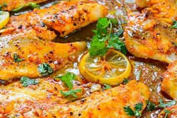 Spicy Lemon Garlic Baked Tilapia
