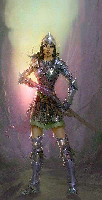 56d098d44124fa Nosiła stroje z kolorowych jedwabi i klejnoty. Była silna i odważna.  Pragnęła zostać wojowniczką. Często bawiła się podpoznańskim lesie z  rusałkami, ...