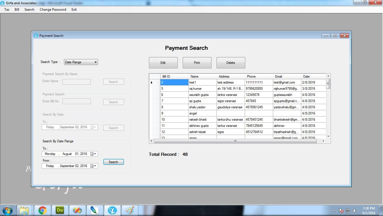 project billing