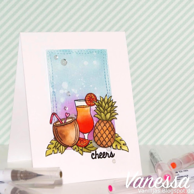 Sunny Studio Stamps: Tropical Paradise Card by Vanessa