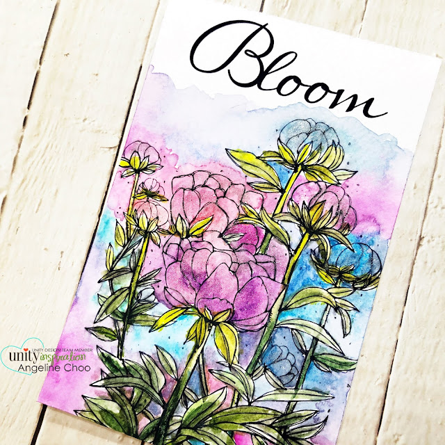 ScrappyScrappy: Blooming Peonies  #scrappyscrappy #unitystampco #cardmaking #card #stamp #stamping #youtube #quicktipvideo #altenewwatercolors #watercolor #bloomingpeonies