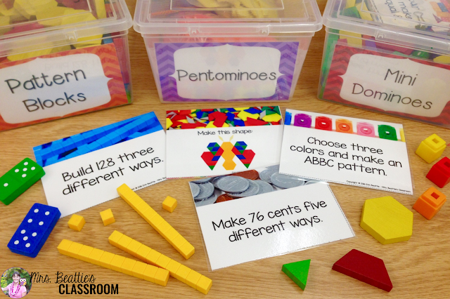 Photo of Math Morning Work Activity Tubs