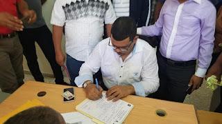 Diputado Manuel (Alexis) Sánchez inscribe su candidatura para seguir siendo la voz de todos
