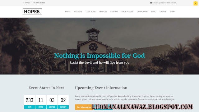 Hope Wordpress Theme