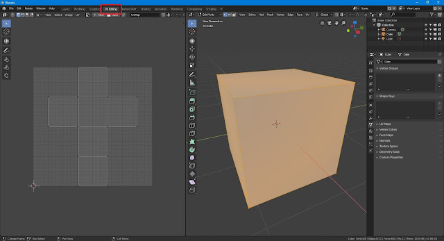 Blender 2.8 uv editing workspace
