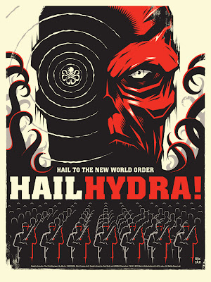 San Diego Comic-Con 2011 Exclusive Captain America: The First Avenger Mondo Screen Print Series by Olly Moss - Hail Hydra