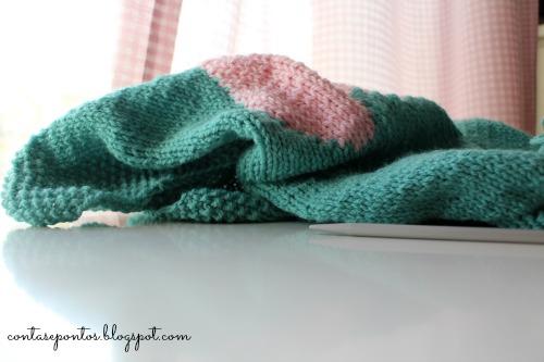 menta e rosa - tricot