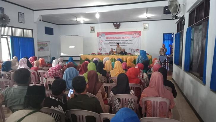 Pelda Wahidin Hadiri Bintek Penghitungan Surat Suara dan Rekapitulasi Bagi PPS dan KPPS