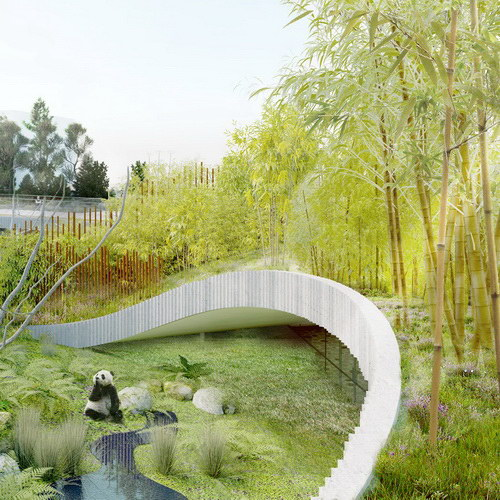 Tinuku BIG announced Panda House design implementing Yin and Yang philosophy in circular shape at Copenhagen Zoo