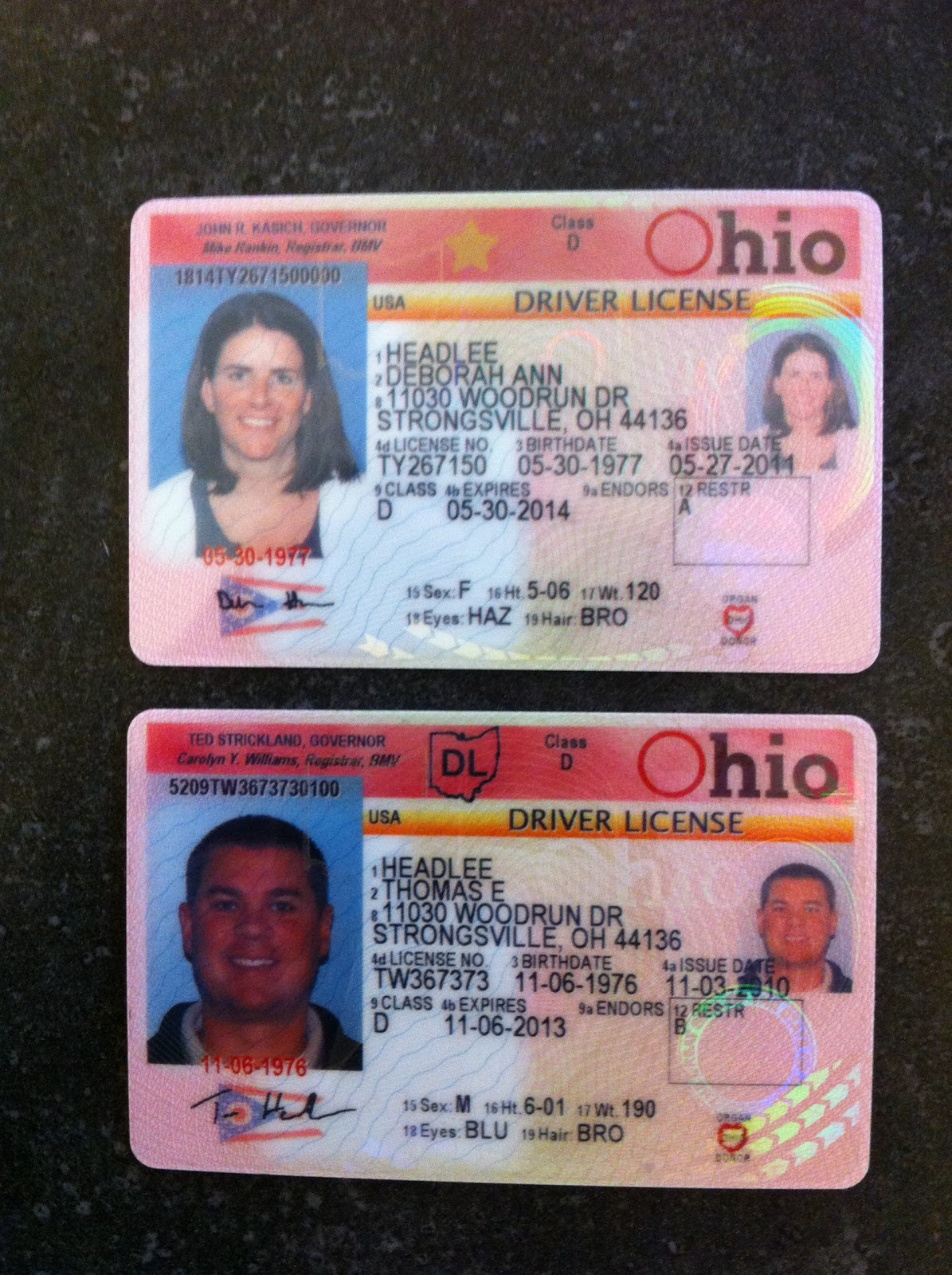 where is issue date on new ohio drivers license