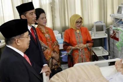 Presiden Jokowi Dan Wakil Presiden JK Menjenguk SBY Di RSPAD Gatot Soebroto