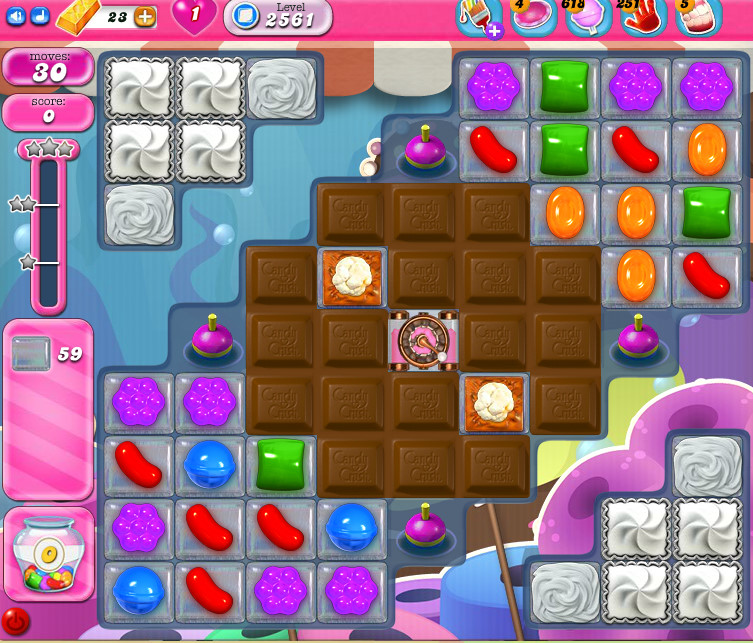 Candy Crush Saga level 2561