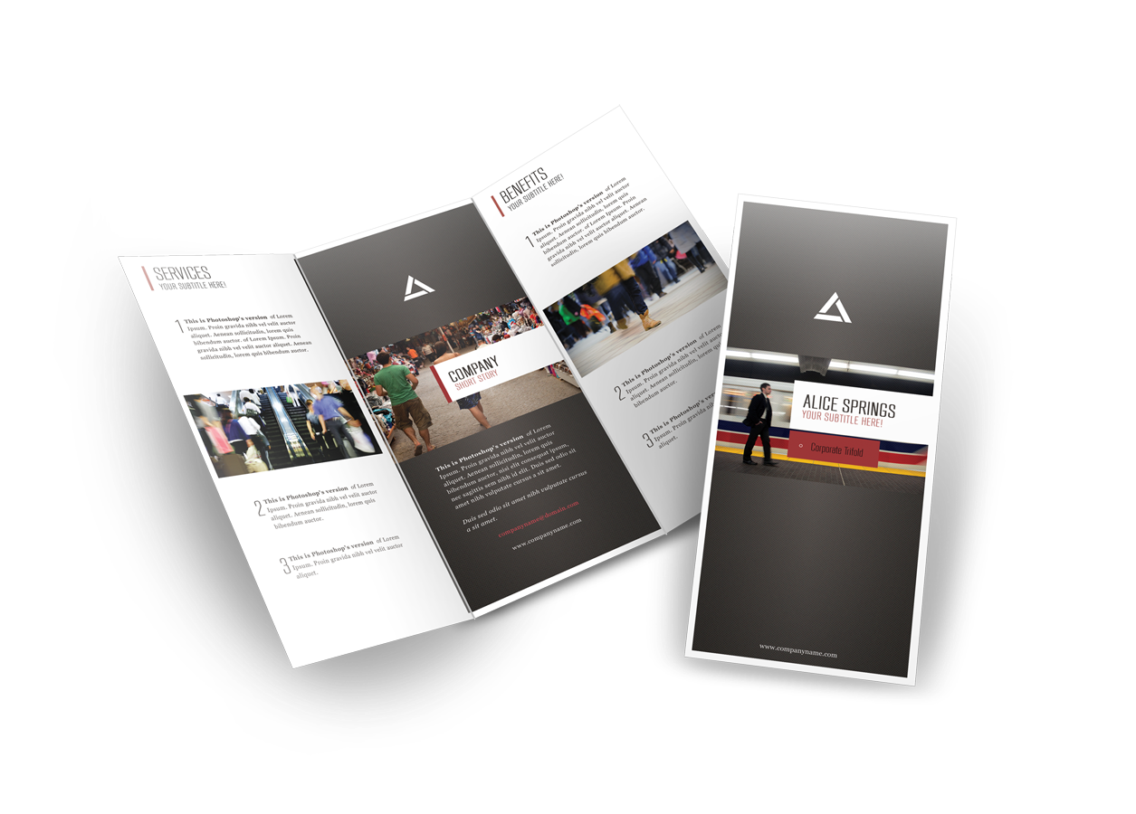 brochure design templates online free - 75 free brochure mockup templates for your designs