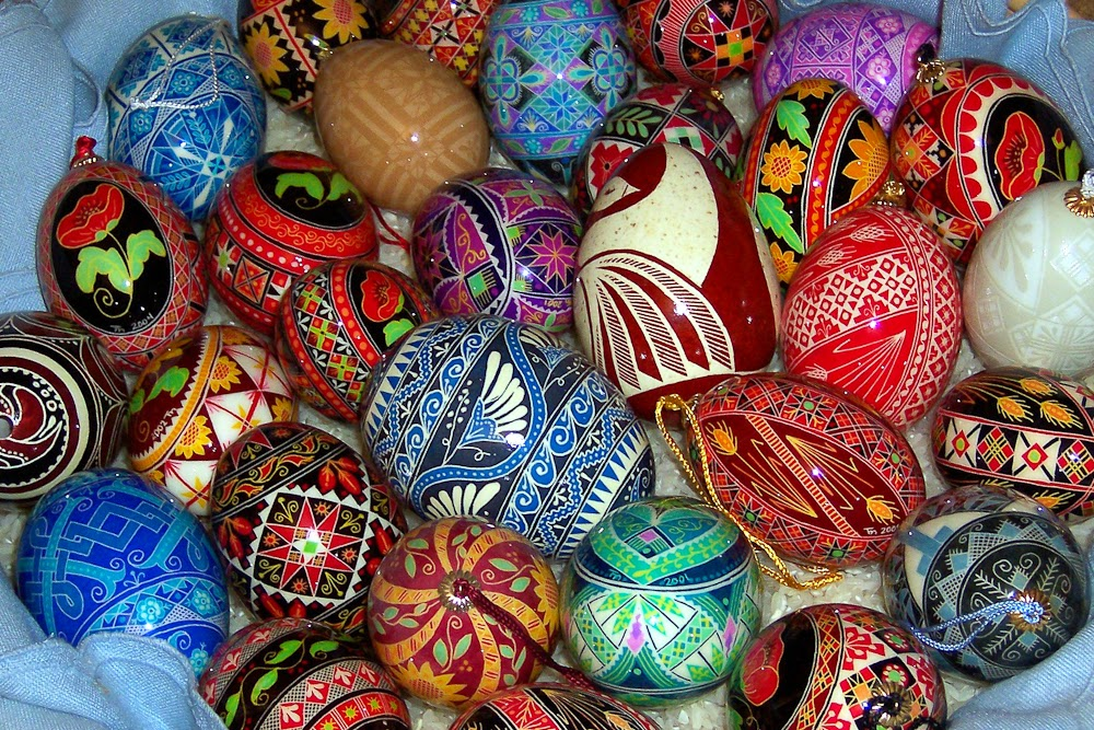 Easter eggs awesome decoration image
