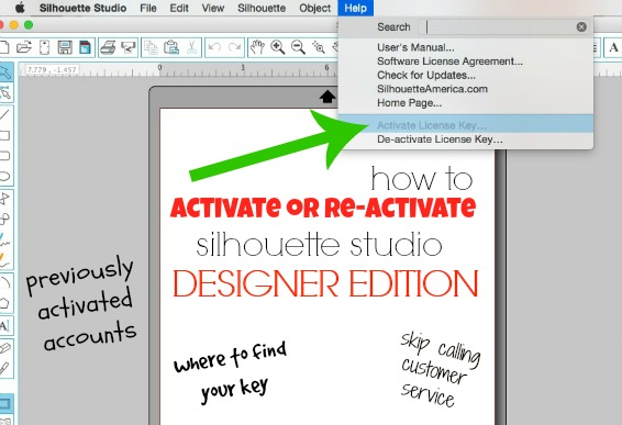 Activate or reactivate Silhouette Studio Designer Edition or Business Edition