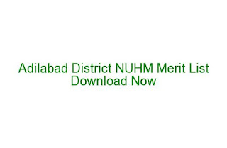 Adilabad District Lab Technician Merit List Date 28-05-2016