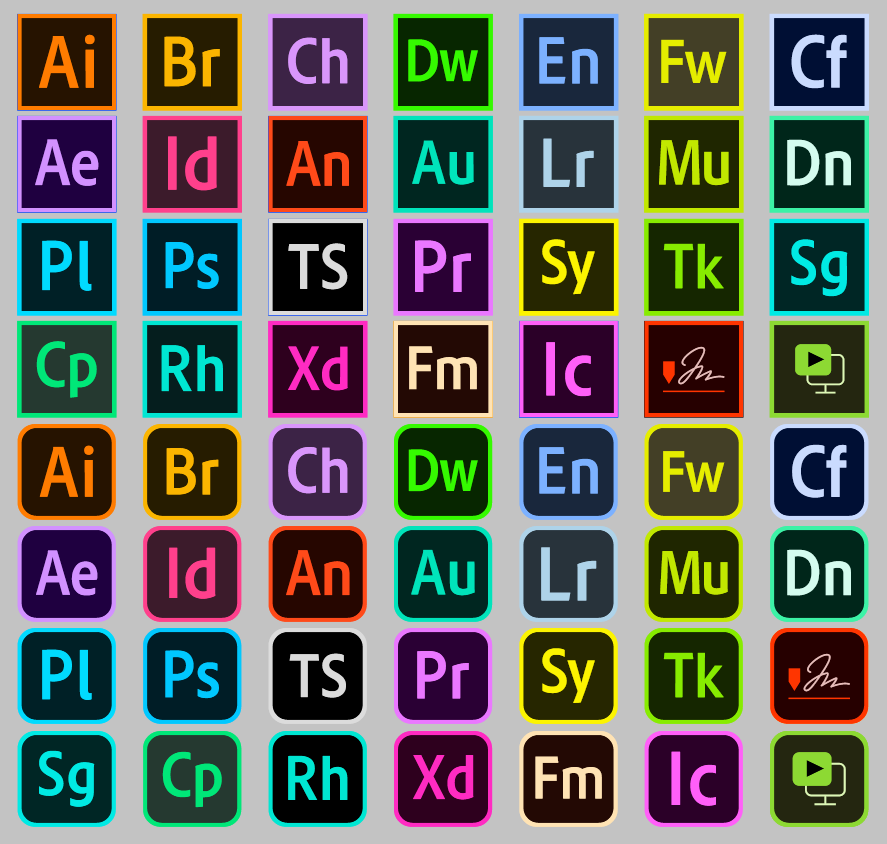 Download font adobe color Logos Programs adobe