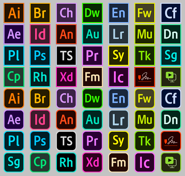 Download font adobe color Logos Programs adobe