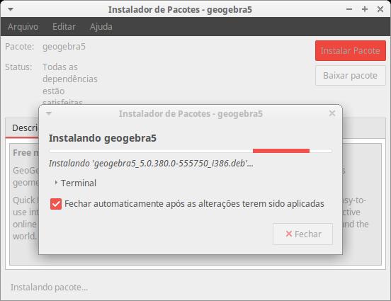 Instalando o GeoGebra5