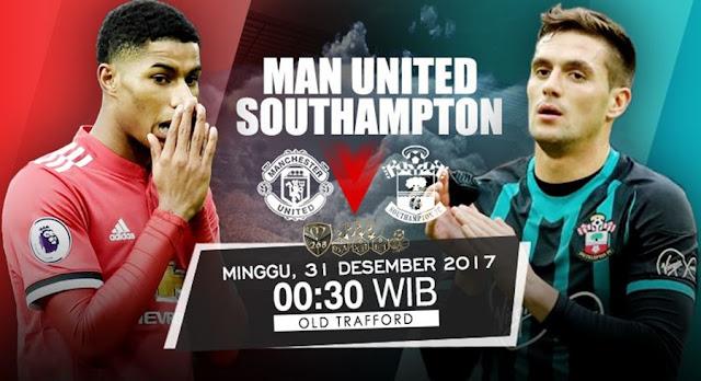 Prediksi Bola : Manchester United Vs Southampton , Minggu 31 Desember 2017 Pukul 00.30 WIB @ RCTI