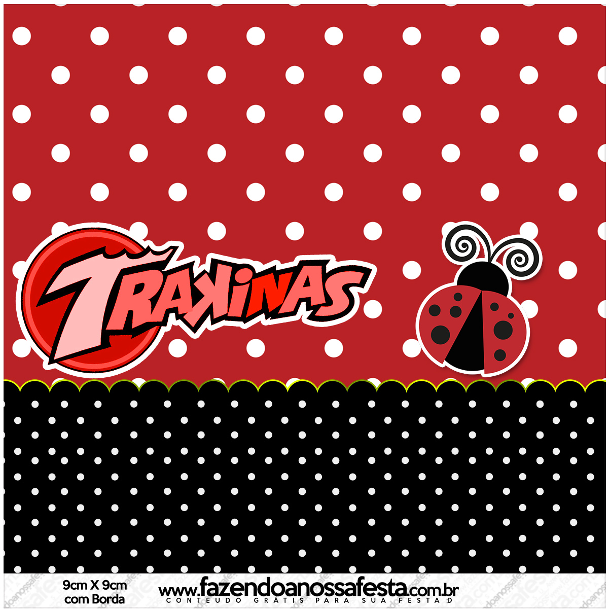 Ladybug Party Free Printable Candy Bar Labels